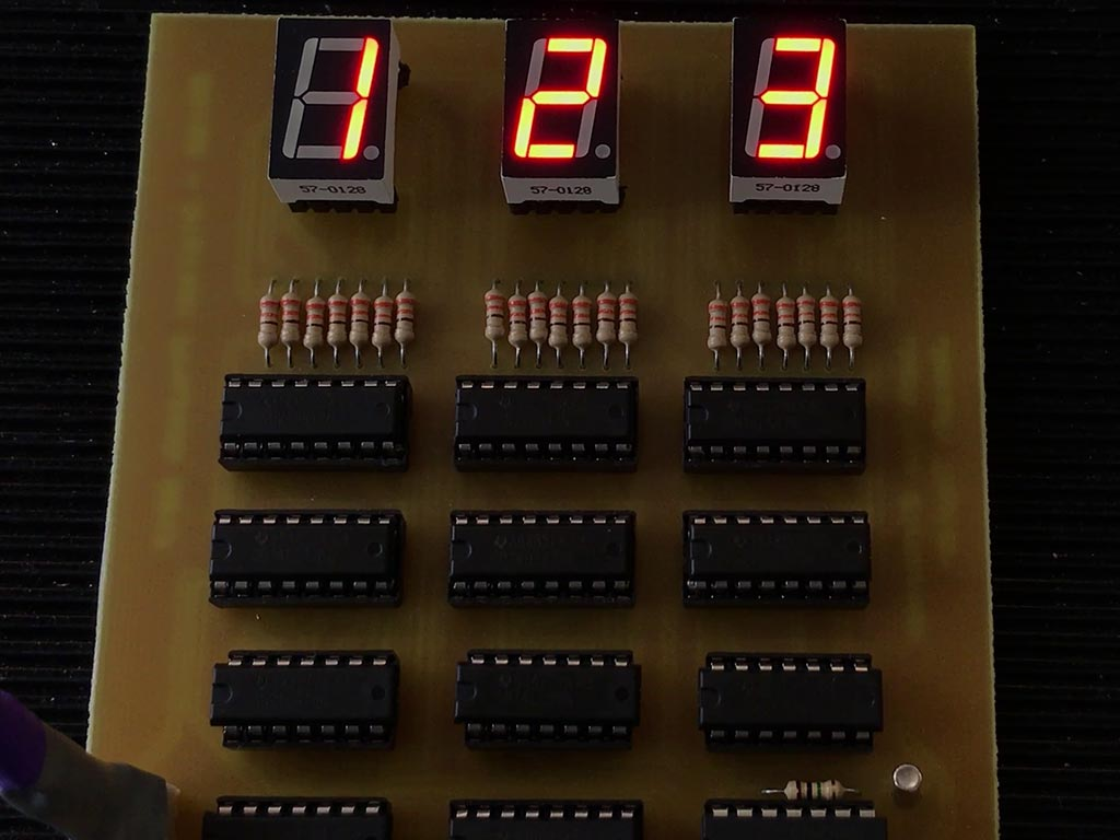 Ttl Frequency Counter Joseph Taylor Four Digit Meter Cmos Schematic Improvements Although This